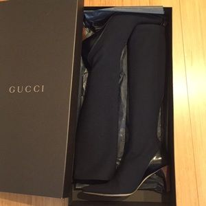 Gucci Neoprene Knee High Boots